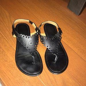 Black Charming Charlie's sandals